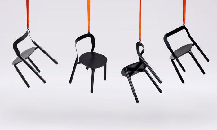 Adam Štok navrhl židle Nyiny Chairs vyrobené pomocí hyraulického lisování