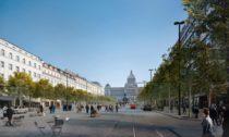 Aktualizovaný návrh výsledné podoby Václavského náměstí v Praze podle návrhu Jakuba Ciglera