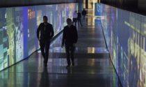 Multimediální expozice Momenty dějin vespojovací chodbě pod Národním muzeem