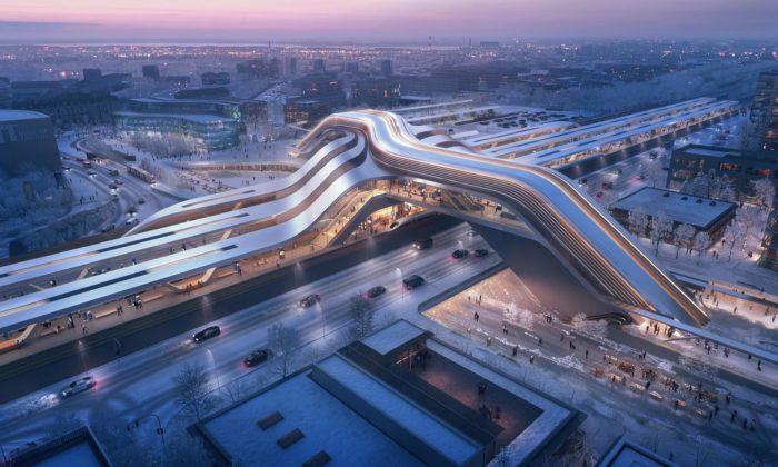 Zaha Hadid Architects postaví vEstonsku terminál pro vysokorychlostní železnici