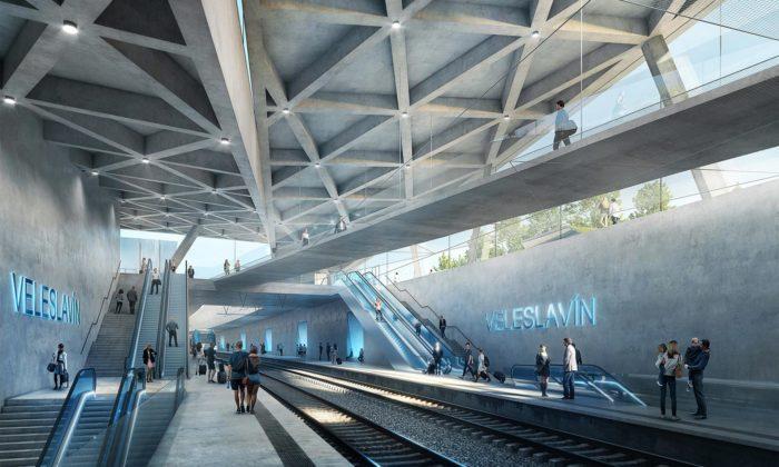 Veleslavín dostane moderní vlakové nádraží zahloubené pod zem alineární park