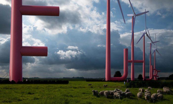 Nizozemci navrhli větrné elektrárny stvary obřích písmen irozhlednami