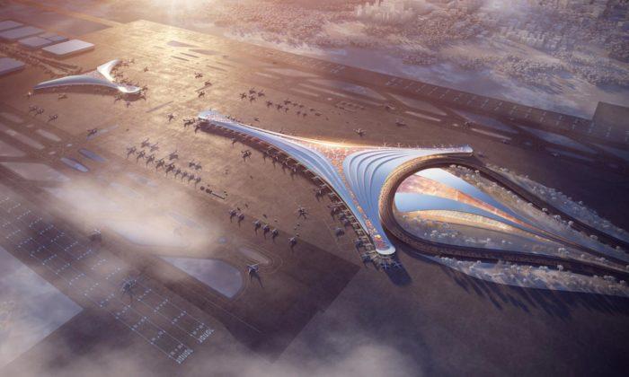 Polsko chce postavit jedno znejvětších letišť světa navržené světovými architekty
