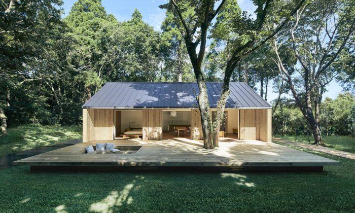 Muji navrhlo minimalistický prefabrikovaný dům Yō zcedrového dřeva