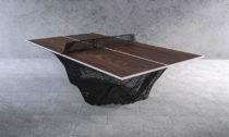 Stelios Mousarris ajeho jídelní stoly akávové stolky