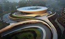 Zaha Hadid Architects aprojekt Unicorn Island včínském městě Chengdu
