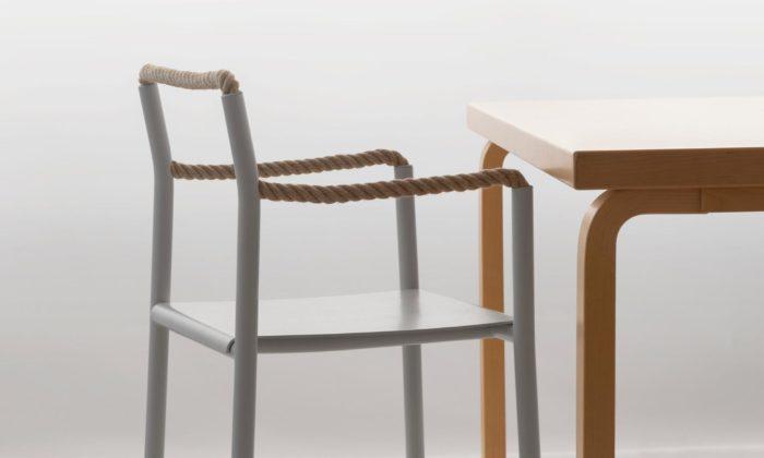 Ronan & Erwan Bouroullec navrhli židli Rope Chair sopěrkami zprovazu