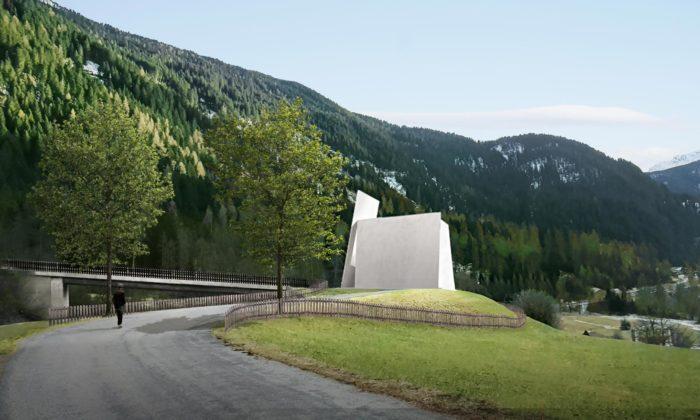 Herzog & de Meuron postaví našvýcarské dálnici kostel svyhlídkou dozeleně