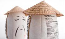 Obal na rýži Riceman od studia Backbone Branding