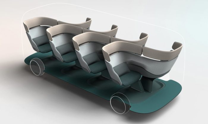 Layer navrhli budoucnost autonomní dopravy skomfortními sedadly adigitálními okénky