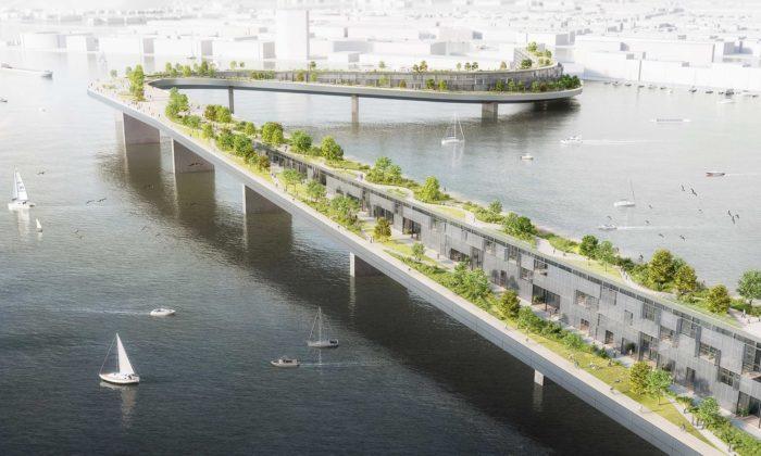 Český architekt navrhl pro Amsterdam obytný most scyklostezkou aparkem