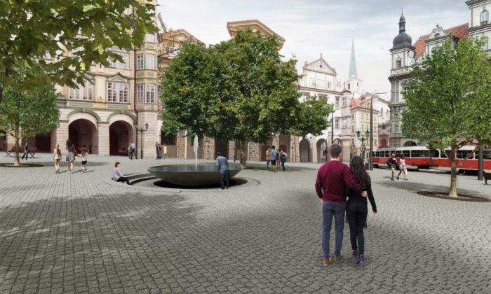 Malostranské náměstí sebrzy promění podle návrhu trojice českých architektů