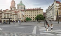 Malostranské náměstí ve vítězném návrhu od trojice architektů Martin Hájek, Václav Hájek a Petr Horský