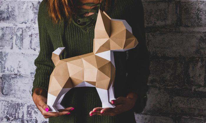 Česká značka PaperTime navrhuje dekorativní sochy skládané zpapíru