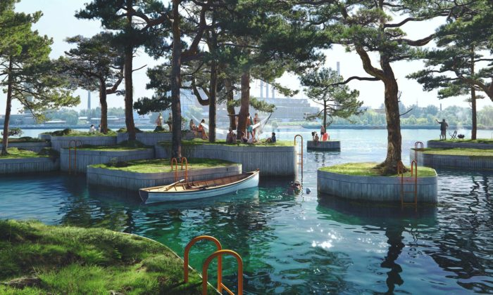 Kodaň plánuje oživit město relaxačními plovoucími ostrovy Copenhagen Islands