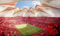 Čínský stadion Guangzhou Evergrande FC na vizualizaci
