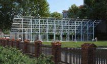 Mendelův skleník podle návrhu Chybík + Krištof