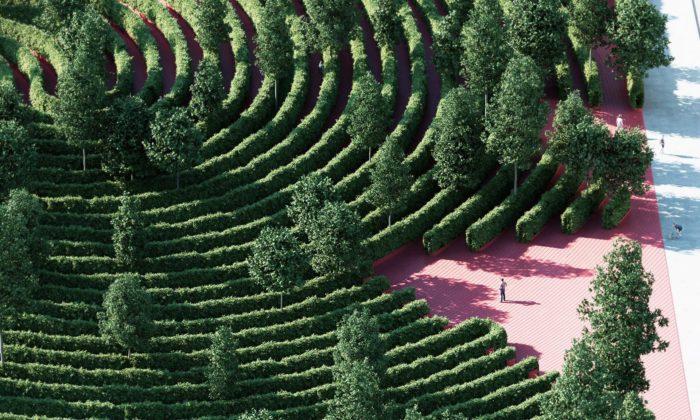 Parc de la Distance byl navržen pro přirozené dodržování sociálního odstupu