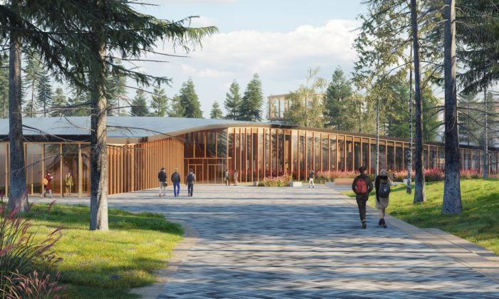 Mecanoo postaví kousek za Moskvou vzdělávací kampus pouze ze dřeva