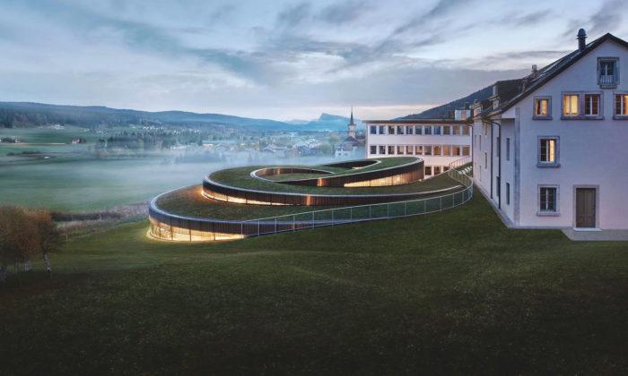 BIG postavili muzeum Audemars Piguet vetvaru spirály zapuštěné pod zem