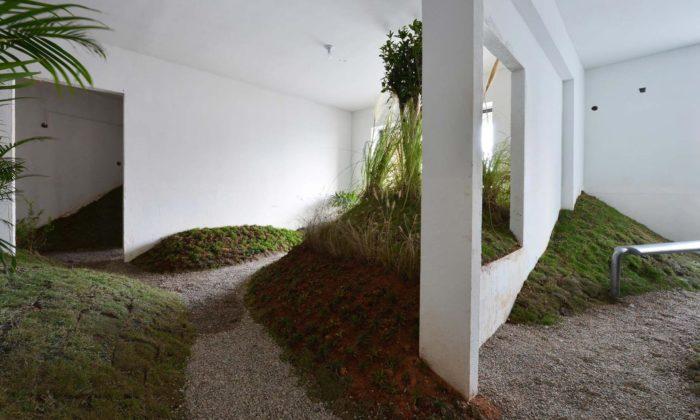 V bytovém domě vznikl zklasického bytu malý zelený park slavičkou