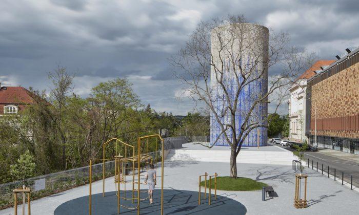 Federico Díaz ozdobil robotem výdech ztunelu Blanka apřidal Praze umělecké dílo
