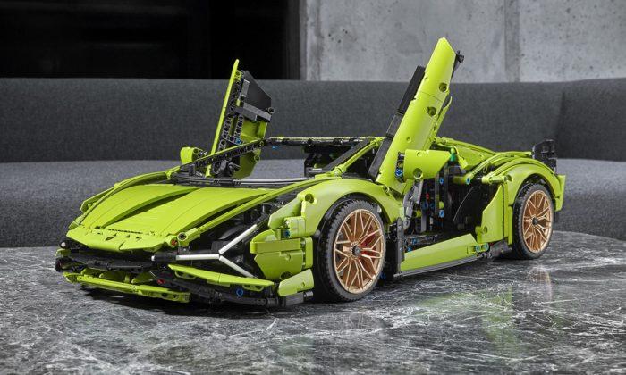 Lego vytvořilo stavebnici Technic sfunkčním sporťákem Lamborghini Sián FKP 37