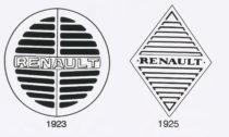 Logo automobilky Renault z roku 1923 a 1925