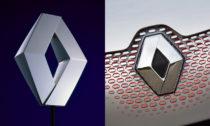 Logo automobilky Renault z roku 1992 a 2015