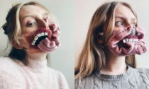 Ručně pletené roušky od islandské módní designérky Ýr Jóhannsdóttir
