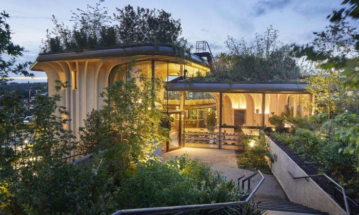 Heatherwick postavil lidem srakovinou zařízení Maggie's se40000 rostlinami