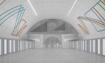 Výtvarná podoba nového metra D od umělců Stanislav Kolíbal, Jiří Černický a Vladimír Kopecký