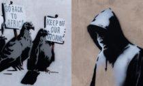 Ilustrační výstřižky děl graffiti umělce Banksyho