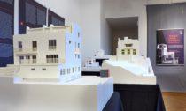 Pohled doexpozice výstavy Yoshio Sakurai: Adolf Loos. Modely