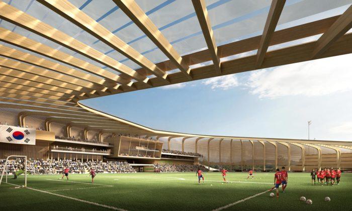 UNStudio postaví ze dřeva národní fotbalové centrum vJižní Koreji