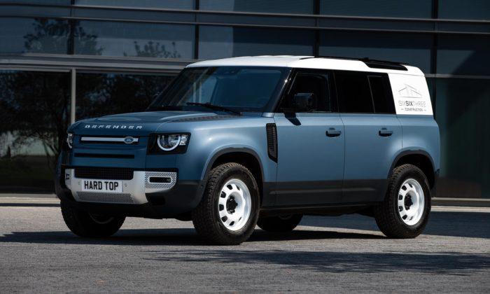 Land Rover udělal zmodelu Defender terénní užitkový vůz schopný odvézt paletu