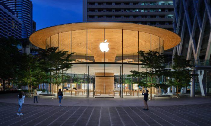 Foster navrhl obchod Apple Central World sestřechou vetvaru stromu