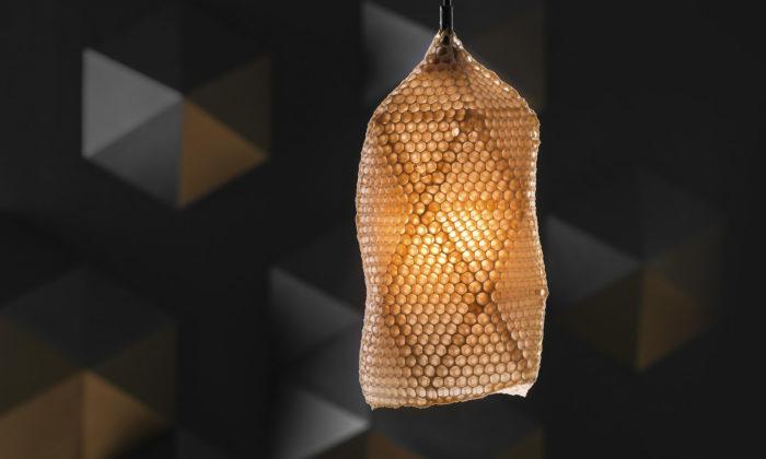 Eduard Seibert navrhl svítidla asvíce Beehive vyrobené přímo včelami