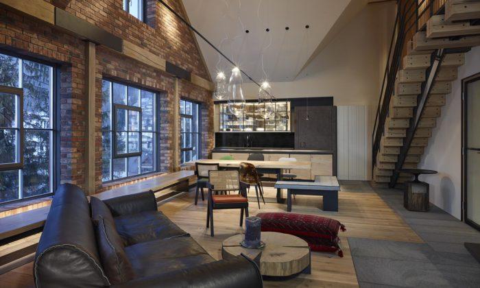 Mimolimit spojil dva podkrovní byty avytvořil moderní horský apartmán