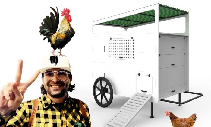 Česká designérka navrhla promyšlený Mobilní kurník pro začínající izkušené chovatele
