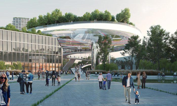 MVRDV navrhli futuristkou vyhlídkovou věž sezahradou pro německé Karlsruhe