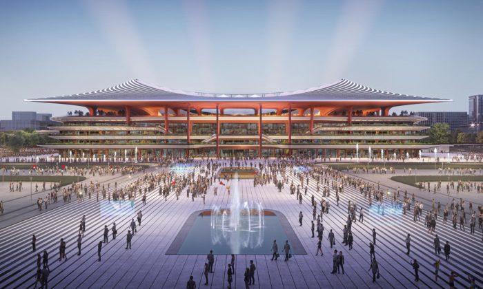 Zaha Hadid Architects postaví fotbalový stadion Xi'an inspirovaný tradiční čínskou architekturou