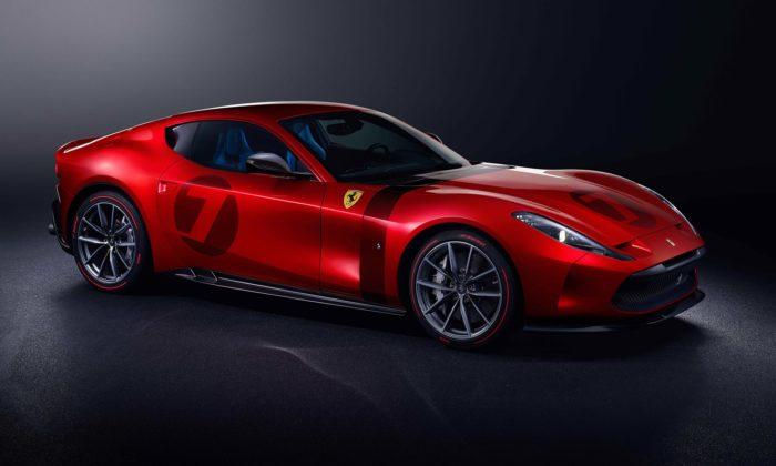 Ferrari Omologata jejedinečný vůz postavený nazákladech 812 Superfast