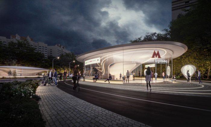 Zaha Hadid Architects postaví vMoskvě futuristickou stanici metra Klenoviy Boulevard