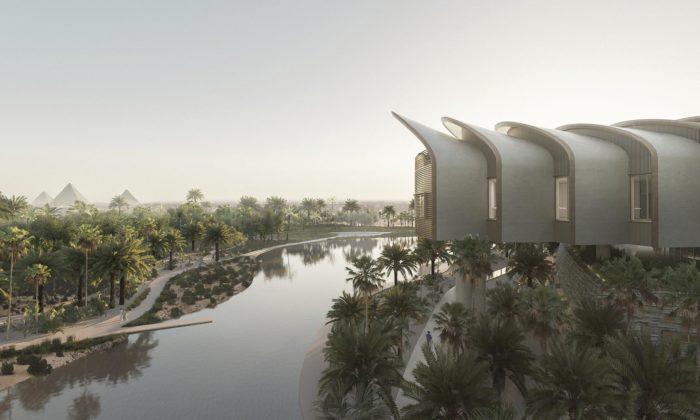 V egyptské Káhiře začala výstavba nemocnice odFostera svýhledem napyramidy
