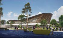 Aquatics Centre vPaříži pro Olympijské hry vroce 2024