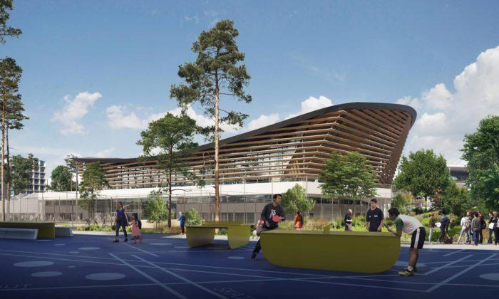 Paříž postaví stadion vodních sportů ze dřeva aokolo vysází 100 stromů