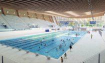 Aquatics Centre v Paříži pro Olympijské hry v roce 2024