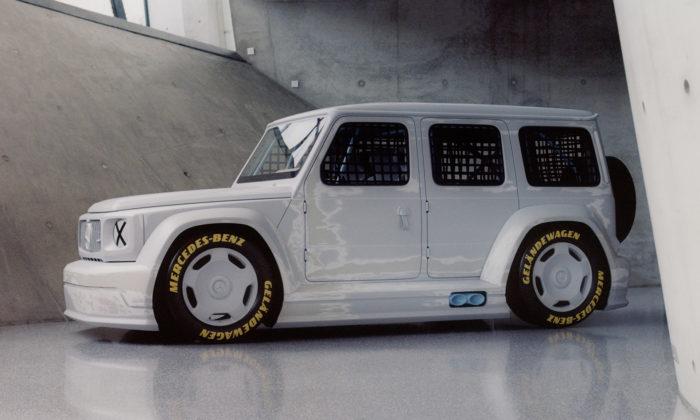 Mercedes-Benz aVirgil Abloh vytvořili ztřídy G závodní vůz Geländewagen