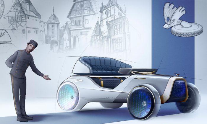 Designérka ze Škoda Auto navrhla autonomní kočár pro turisty inspirovaný uVoiturette A